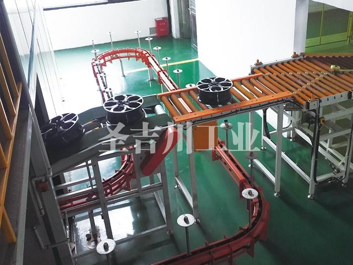 铝轮毂成品检验包装自动转线机构