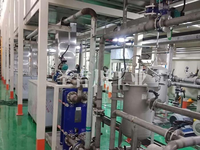 前处理槽液换热和过滤循环系统