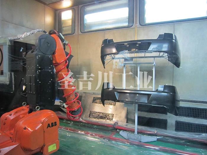 张家港保险杠机器人火焰处理室