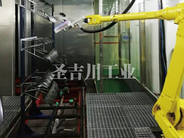 张家港进气格栅机器人火焰处理