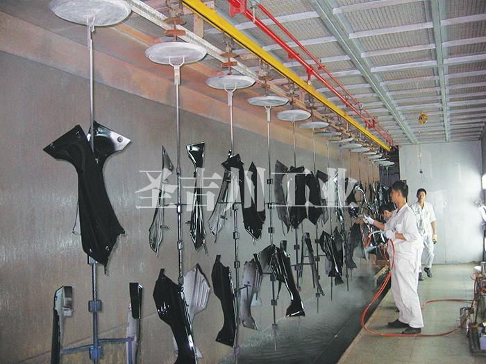 摩托车、电动车塑料件悬挂喷漆线