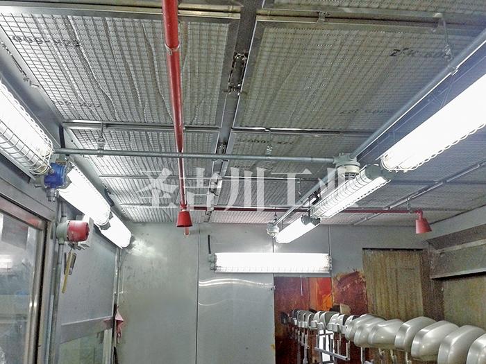 喷漆室内自动气体灭火系统