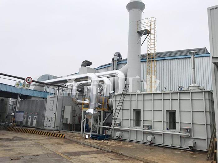 沸石转轮浓缩+RTO废 气处理系统